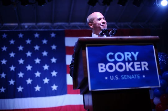 Cory Booker wins the Democratic nomination for the U.S. Senate race in August 2013.