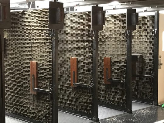Booths were refurbished in Clifton Police Department's firing range, located in the basement of Fire Station 4 on Main Avenue.