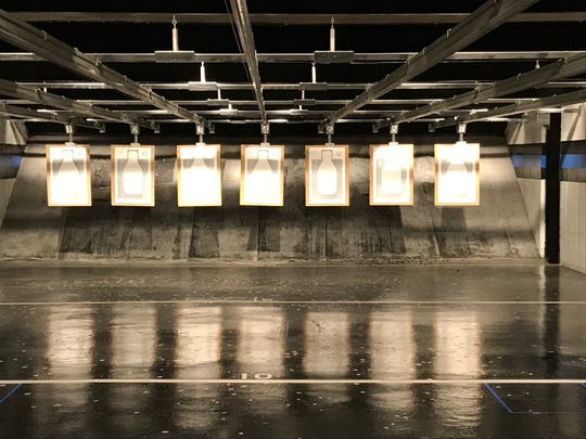 Targets in Clifton Police Department's firing range, in the basement of Fire Station 4 on Main Avenue.
