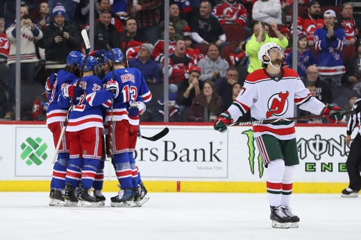 new styles efac5 3a803 Mika Zibanejad's hat trick leads NY Rangers comeback over NJ ...