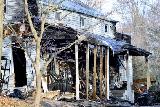Aftermath of fire on Ratzer Rd in Wayne, Friday February 1, 2019.