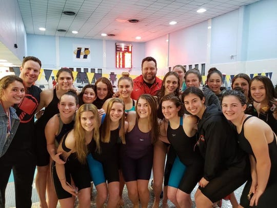 The Northern Highlands girls swim team defended its title at the Big North Patriot meet on Thursday Jan. 31, 2019.