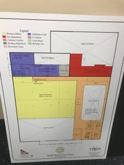 A second floor plan for the potential new municipal complex in Saddle Brook.