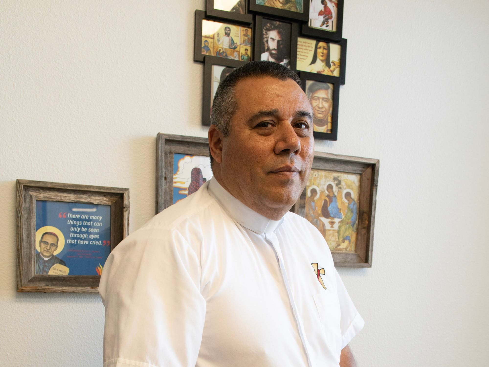 Deacon Loni Briseño of Project Oak Tree in his parish office in Las Cruces.