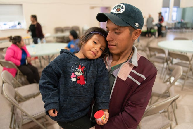 Nearly every week for the past six months, the Immaculate Heart of Mary Cathedral in Las Cruces has provided food, shelter and clothing for a dozen or more migrant families released from immigration detention. Many have fled violence and poverty in Central America in hopes of gaining asylum in the U.S. Melani and her father Lucas Juan came from Jacaltenango and were on their way to Phoenix.