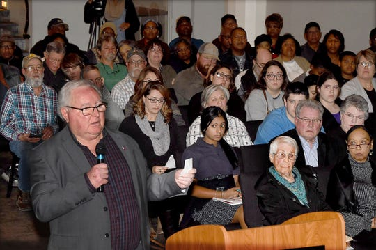 Eagle Oil Co. public hearing held Thursday at the Delta Grand.