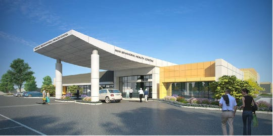 A rendering of the proposed Indio Behavioral Health Center.