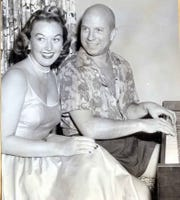 Van Heusen with songstress Ginny Simms in the early 1960s.