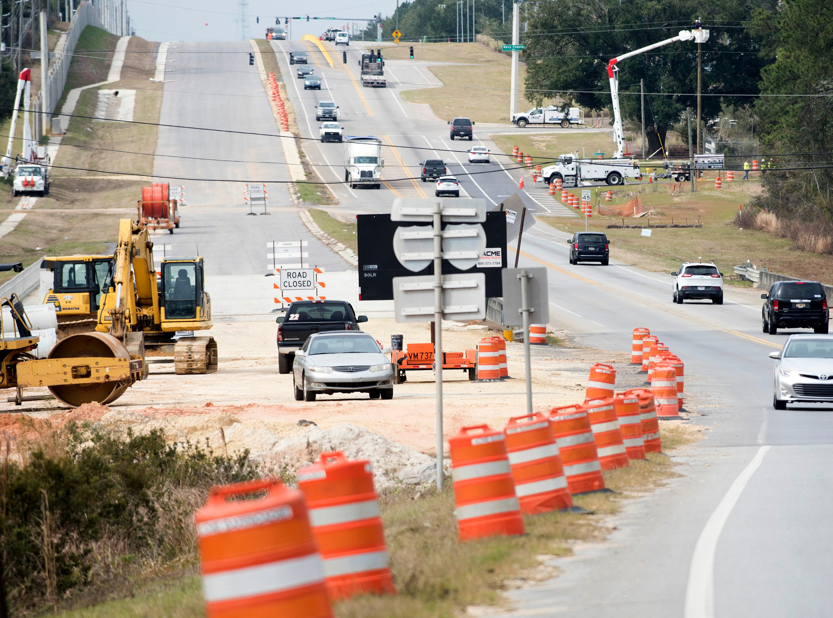 Construction on Nine Mile Road continues on Friday, Feb. 1, 2019.  The Florida Department of Transportation estimates the portion of Nine Mile between Beulah Road and Interstate 10 will be complete by the end of 2019. The entire $46 million project runs from Beulah Road to U.S. Highway 29, and won't be entirely complete until 2020.