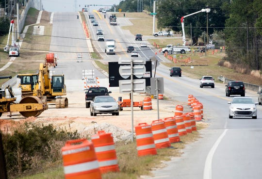 Construction on Nine Mile Road continues Friday. The Florida Department of Transportation estimates the portion of Nine Mile Road between Beulah Road and Interstate 10 will be complete by the end of 2019.