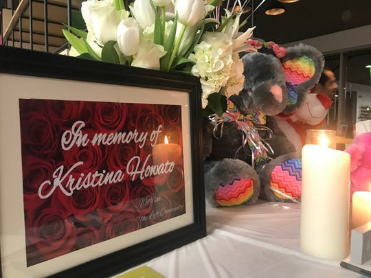 A memorial was set up for Kristina Howato at the Lyft hub in Phoenix on Jan. 31, 2019.