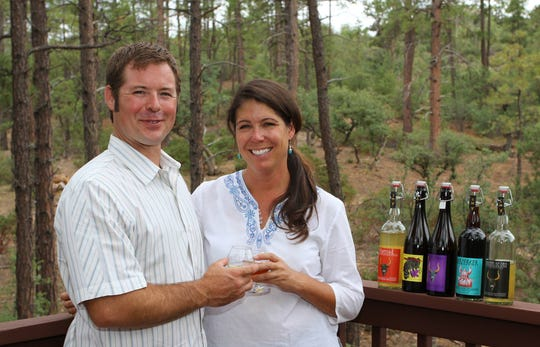 Superstition Meadery owners Jeff and Jen Herbert have made more than 150 types of mead and cider since starting the company in 2012.