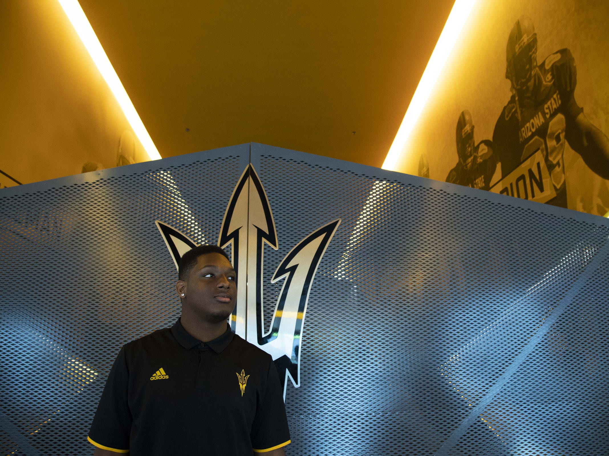 Defensive Lineman, Tyler Johnson during the ASU Spring Football media day at ASU Tempe campus.