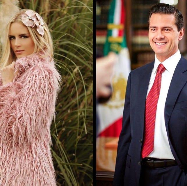 Captan a Enrique Peña Nieto con modelode 31 años