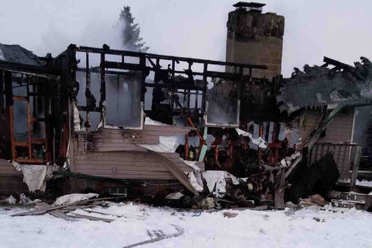 A family home in the 9100 block of Springborn Road in Casco Township was destroyed in a fire on Tuesday, Jan. 29, 2019. The family set up a GoFundMe campaign online.