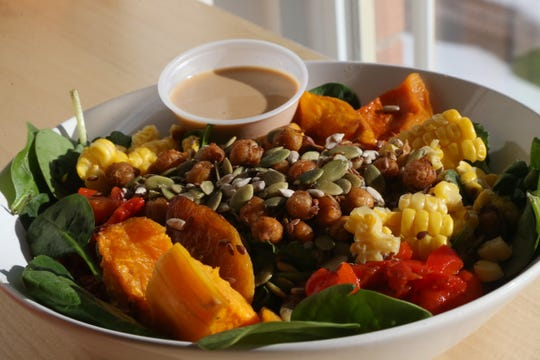 The Three Sisters salad from Veggie Go-Go at their cafe in Wappingers Falls on January 31, 2019.