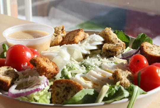 A Parisian Deluxe salad at Veggie Go-Go in Wappingers Falls on January 31, 2019.