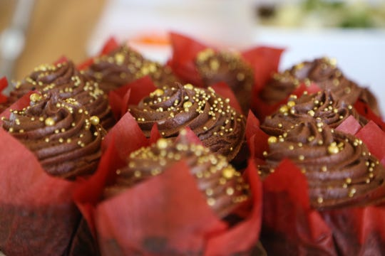 Vegan chocolate cupcakes from Veggie Go-Go in Wappingers Falls on January 31, 2019.