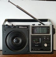 Mark Story's late father's 1980 Panasonic radio.