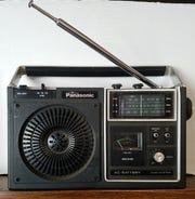Mark Story's late father's 1980 Panasonic radio.
