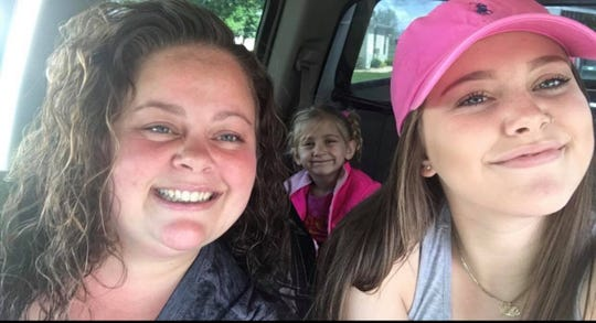 Masey Dacheux, right, with her mother, Jamie and her sister, Daija. Masey was killed Thursday, Jan. 31, 2019, when her car rear-ended a school bus on Lewisberry Road in Conewago Twp.