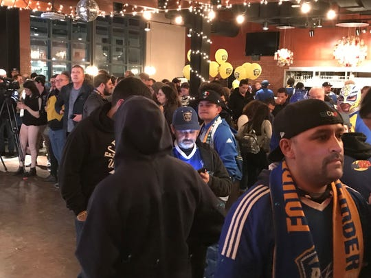 A crowd gathered Thursday to check out the new Reno 1868 FC soccer kits at Greater Nevada Field.