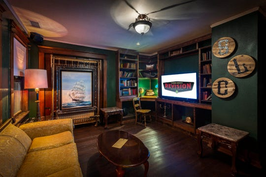 The Study, one of a trio of themed rooms at the new Revisions taproom upstairs at Pignic Pub & Patio on Flint Street, just south of downtown Reno.