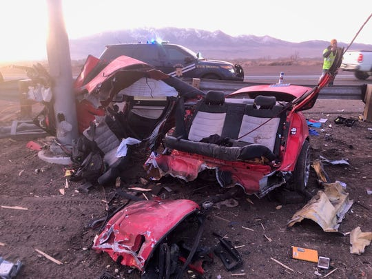 A South Lake Tahoe man was killed and another remains in critical condition after a Feb. 1 accident on Highway 50 in Dayton.