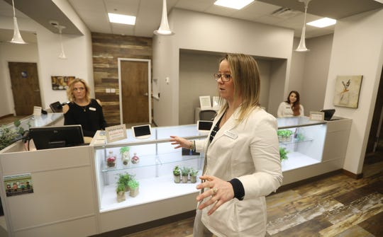Dispensary Manager Sarah Morris talks about the procedures for a new client who visits Fp Wellness Rochester, a new marijuana dispensary in Rochester.