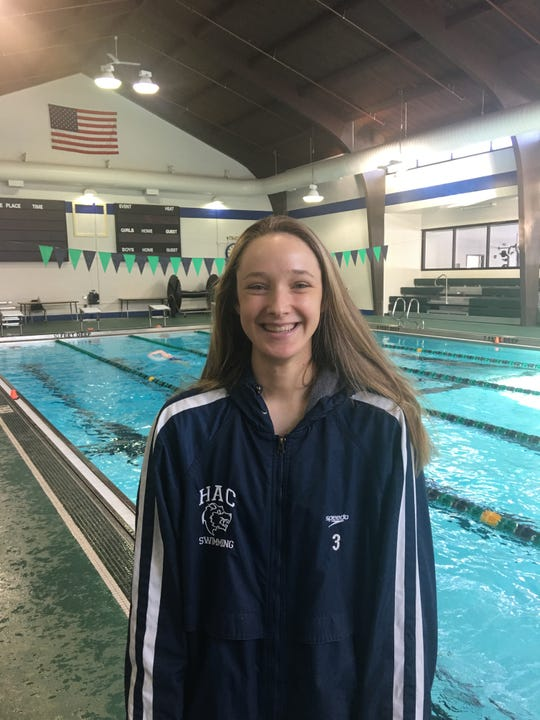 HAC swimmer Erin Szuromi