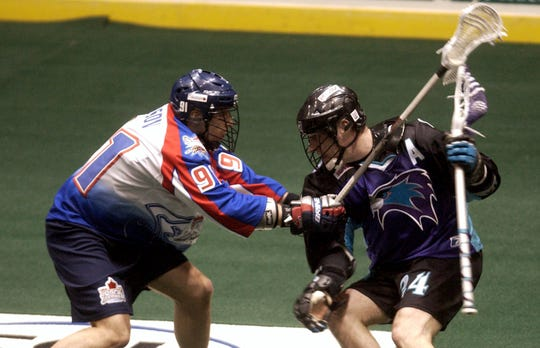John Grant had many memorable battles with the Knighthawks against arch-rival Toronto.