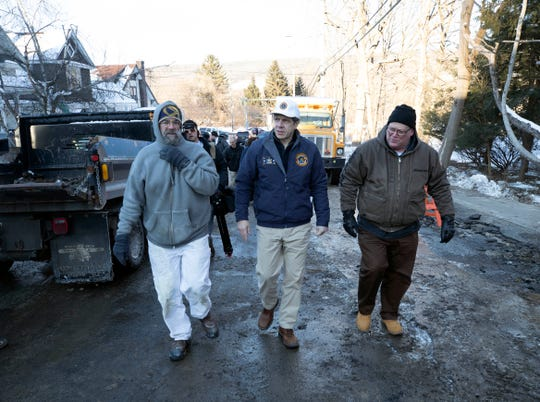 Governor Andrew M. Cuomo visited a water main break in Ilion on Thursday, Jan. 31, 2019.