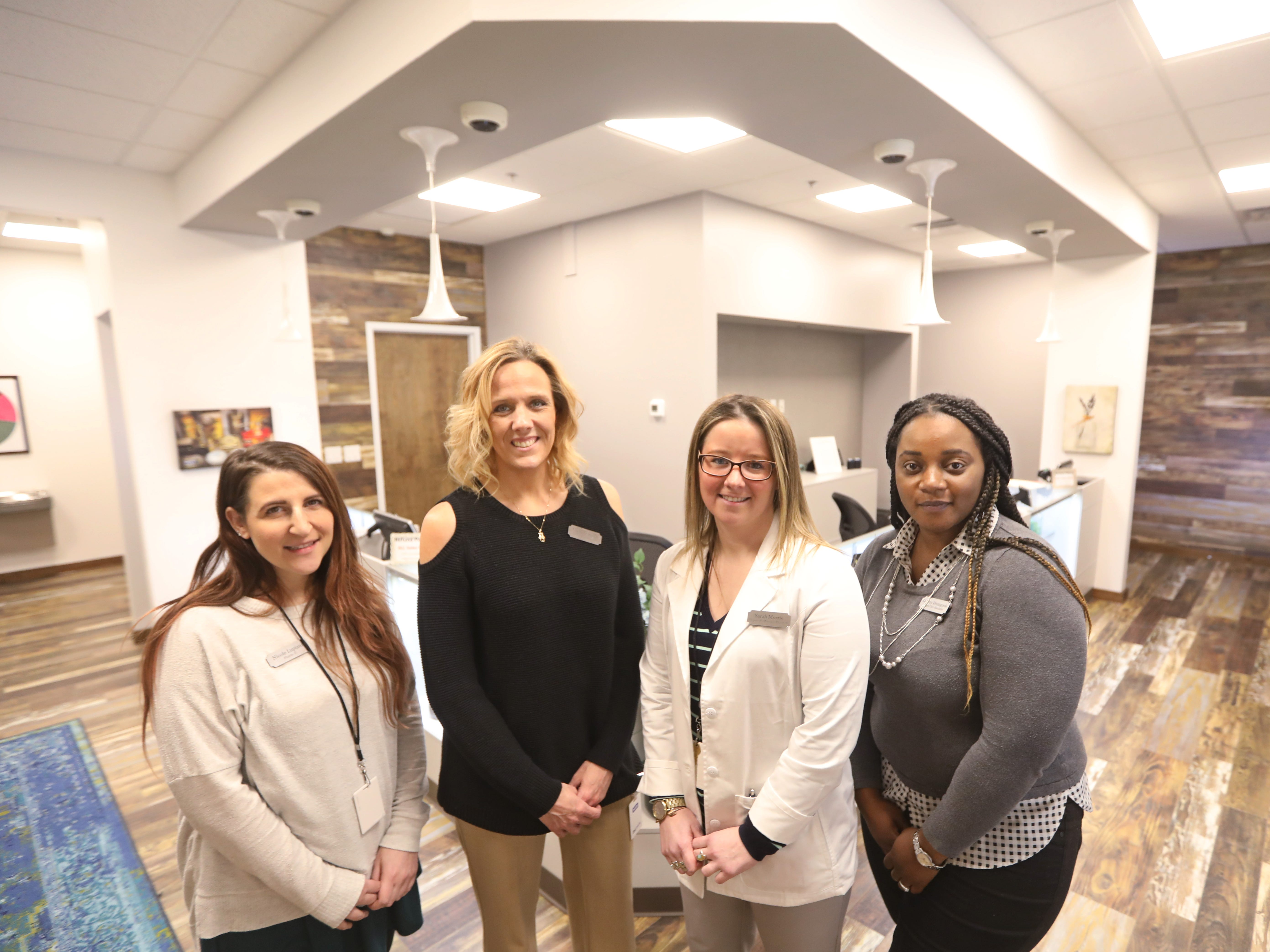 The staff at Fp Wellness Rochester: Pictured from left are Nicole Lupiani, Michelle Smith, Sarah Morris and Luarrey Drumgoole.