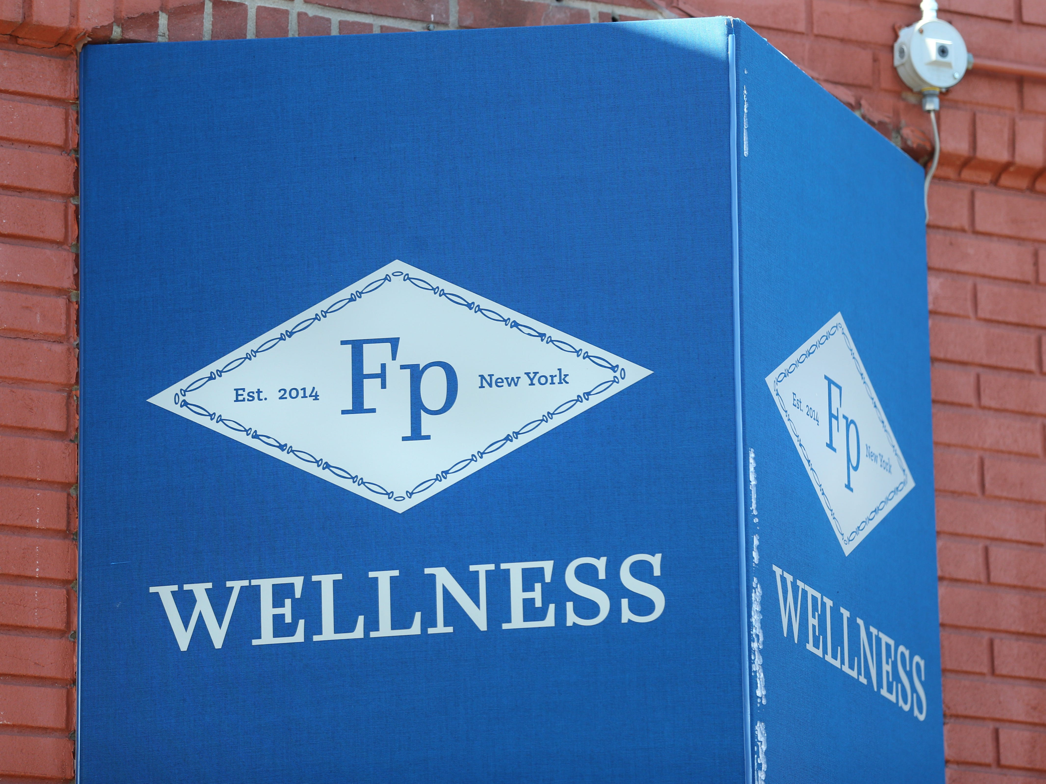 The sign over Fp Wellness Rochester, a new marijuana dispensary in Rochester.