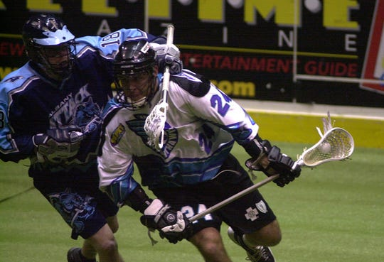 John Grant joined the Knighthawks in 2000 and played 11 years in Rochester, then seven more in Colorado.