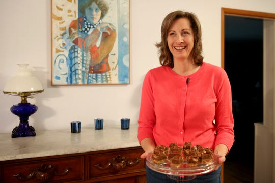 Joanna Crumley won the 2019 Pillsbury Bake-Off Sweet Simple Desserts category with her REESE's Piece 'O' Bliss Fudge recipe. She is in the running for the $50,000 grand prize. Photographed at Crumley's home in Hubbard on Friday, Feb. 1, 2019.