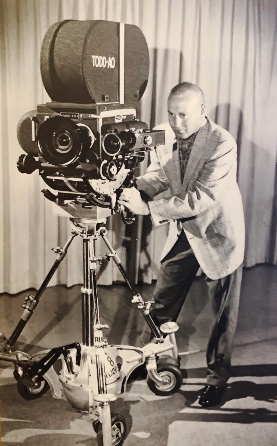 "Don Rogers was head of the camera department for the post-production company Todd-AO in the 1960s. He traveled the world on location with films such as ""The Sound of Music"" and ""The Bible."""