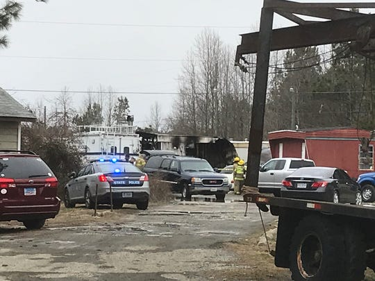 Police are investigating a fatal fire at a residence in Nelsonia, Virginia on Friday, Feb. 1, 2019.
