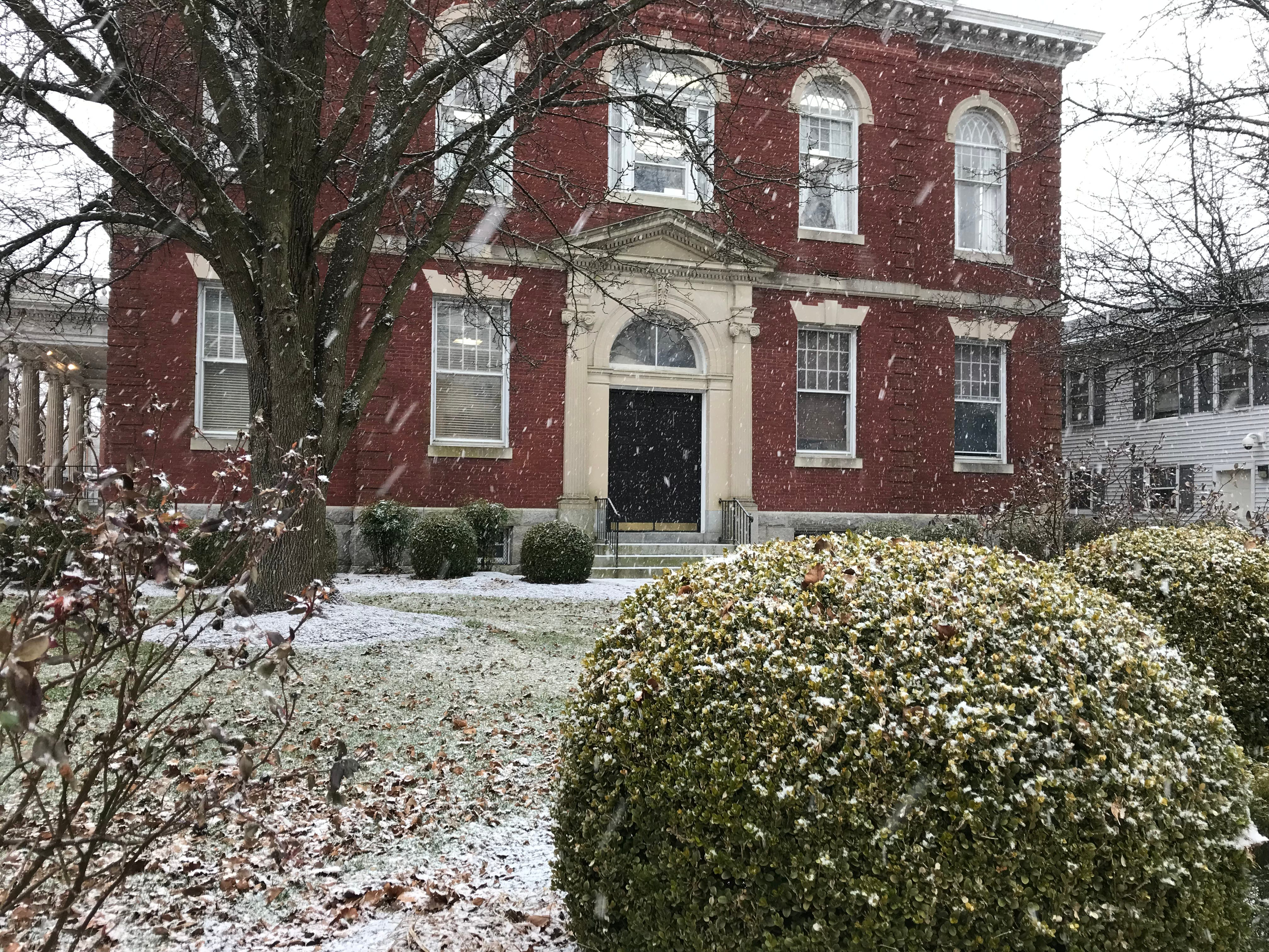 Princess Anne recieved less snow than other local areas as of mid-afternoon Friday, but a light dusting still coated the town.