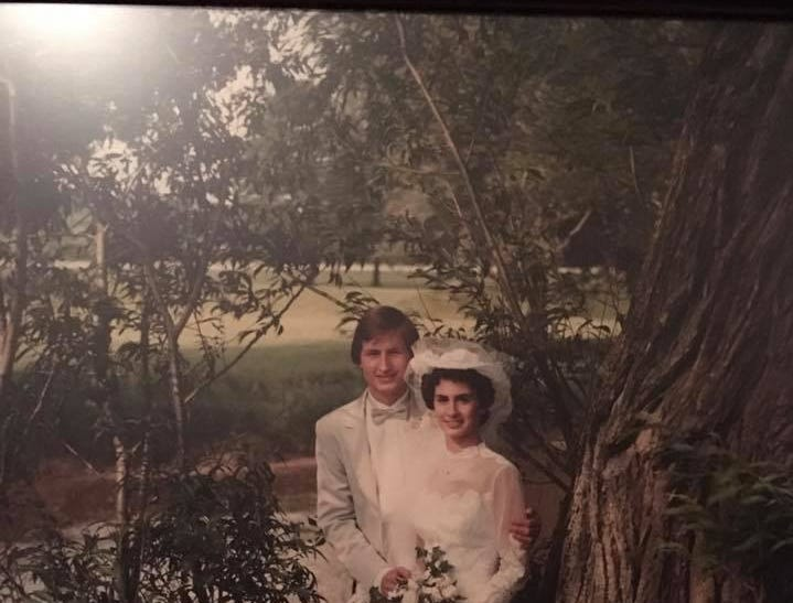 "Bob and Lisa Oldenburg, married in June of 1982 at St. Peter Claver Parish in  Sheboygan.   ""We met in my senior year of high school. Bob had already graduated a year ahead of me,"" Lisa said. ""To this day Bob calls me his beautiful bride. Still honeymooning after all these years!"""
