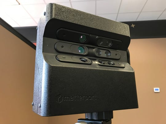 The $3,000, nine-lens Matterport camera used by NAI Sioux Falls to capture 3D imagery of properties the commercial real estate firm has listed.
