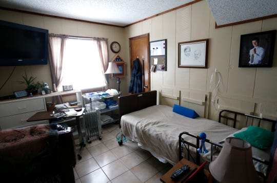 Veteran Donald Gundlach's room at the medical foster home he is staying in.