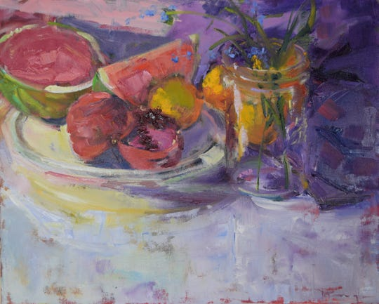 Artist Mickey Cunningham will be displaying her worknow through Feb. 23 in the Paramount Center for the Arts lobby.