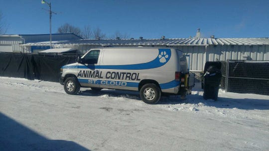 The St. Cloud Animal Control Division van stopped by the Central Minnesota Animal Care and Control on Wednesday, Jan. 30.