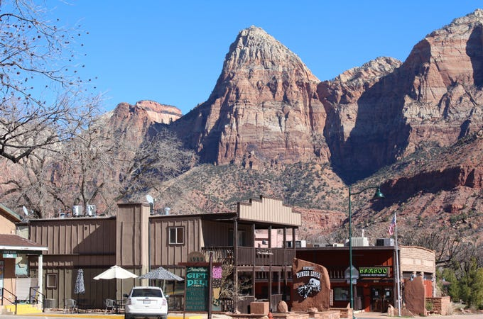 Springdale businesses serve visitors to Zion National Park.
