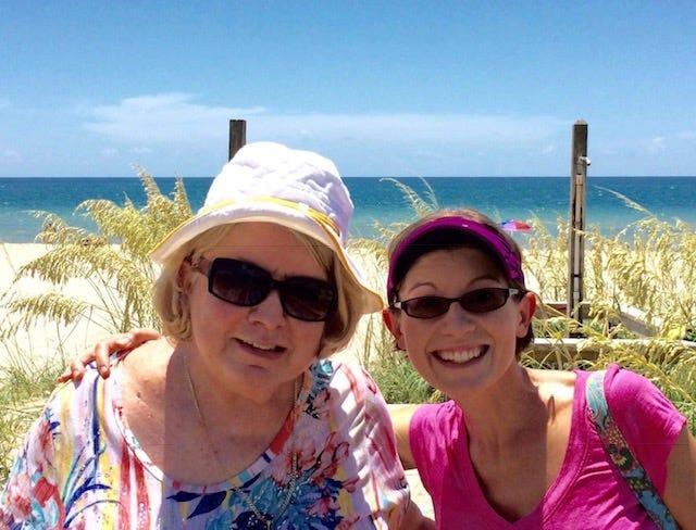 Gloria Kay Reardon (left) and her daughter Laura McDermott. McDermott is running the Tallahassee Marathon in honor of her late mother.