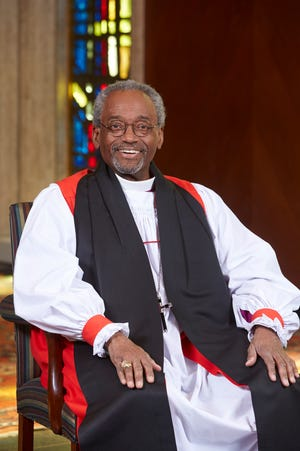 Episcopal Bishop Michael Curry gained worldwide attention when he preached at the wedding of Prince Harry and Meghan Markle on May 19, 2018.