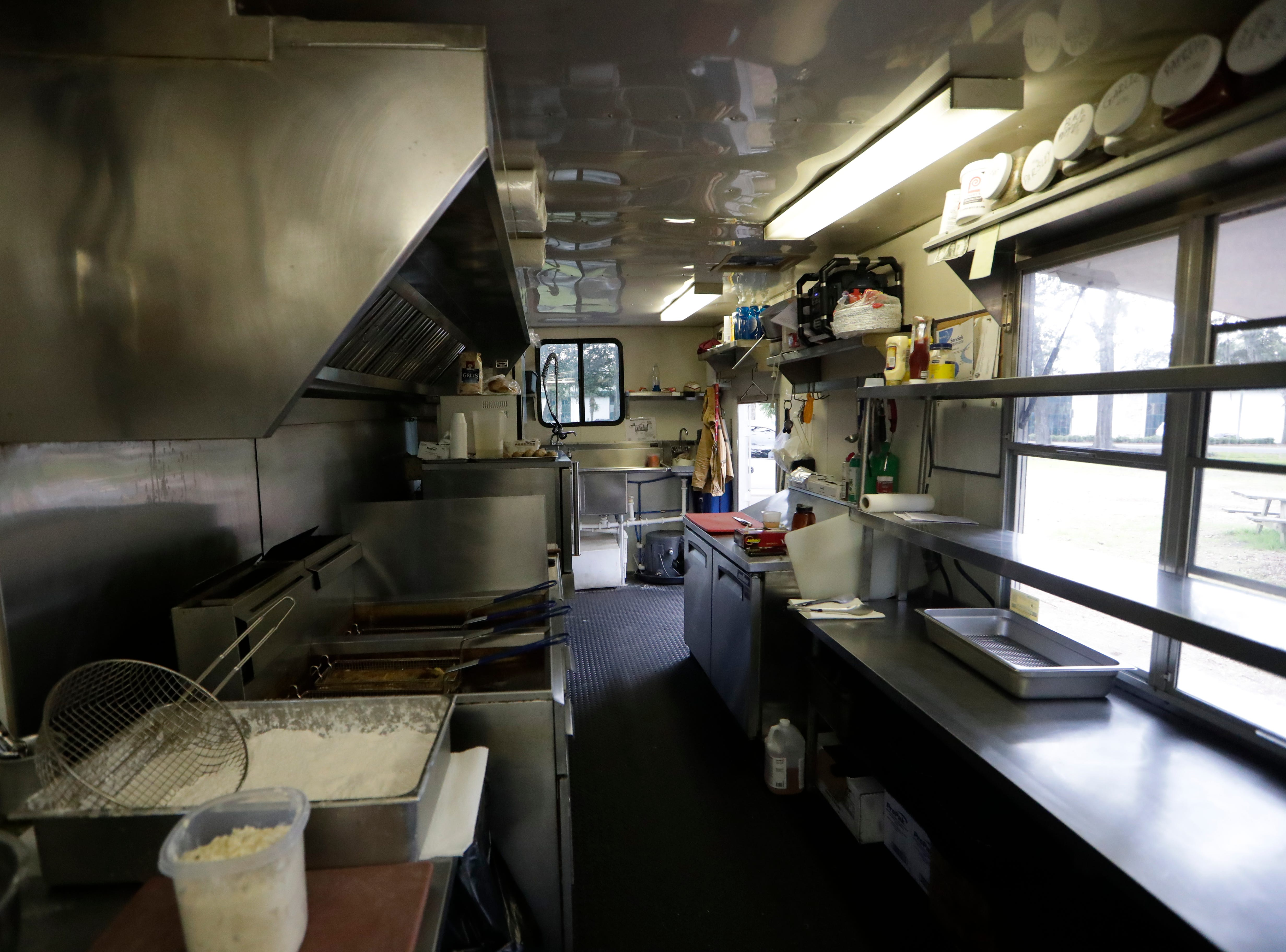 The interior of the Spring Creek Restaurant food truck located in Crawfordville, Fla., Friday, Feb. 1, 2019.