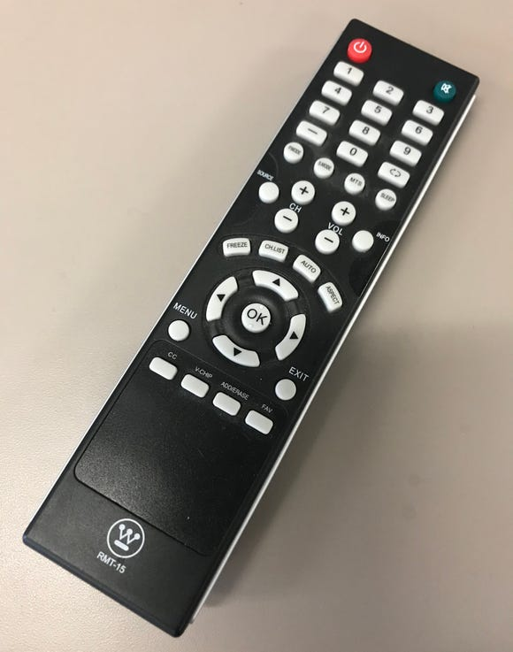 This is a TV remote, but not the one used in the incident