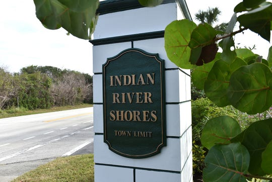 The town of Indian River Shores in Indian River County, FL.  Indian River Shores, along A1A. Indian River Shores